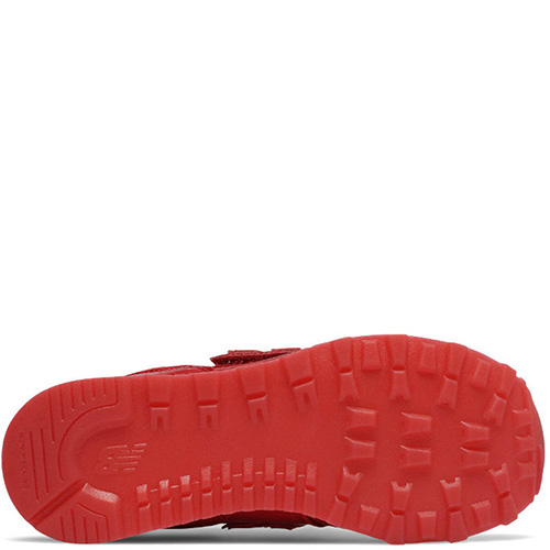 Кроссовки New Balance 574 на липучках красного цвета, фото