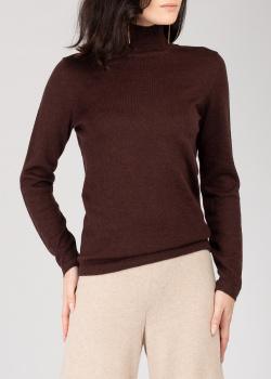 Коричневый свитер GD Cashmere с воротником-стойкой, фото