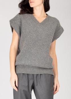 Кашемировый жилет GD Cashmere серого цвета, фото