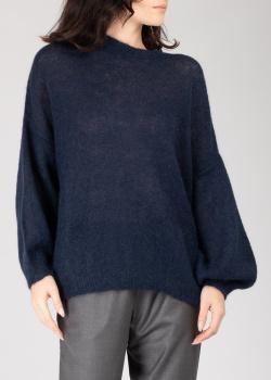 Синий свитер GD Cashmere с широкими рукавами, фото