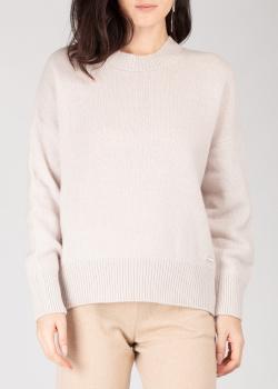 Кашемировый джемпер GD Cashmere светло-серого цвета, фото