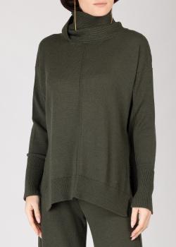 Гольф-оверсайз GD Cashmere темно-зеленого цвета, фото