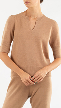 Кашемировый джемпер Repeat Cashmere с кортким рукавом, фото