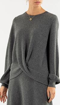 Кашемировый пуловер Repeat Cashmere в сером цвете, фото