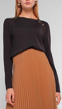 Темно-серый джемпер Luisa Cerano с декором, фото