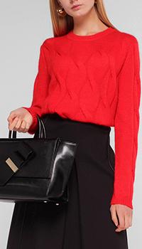Вязаный джемпер Luisa Cerano красного цвета, фото