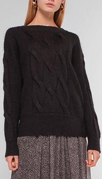 Вязаный свитер Luisa Cerano темно серого цвета, фото