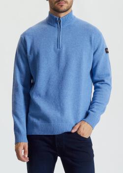 Голубой свитер Paul&Shark с высоким воротником, фото