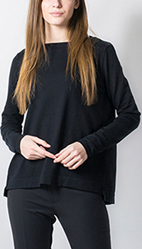 Черный пуловер Rosa Shock с кружевом на спинке, фото