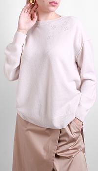 Бежевый джемпер Luisa Cerano из кашемира и шерсти, фото