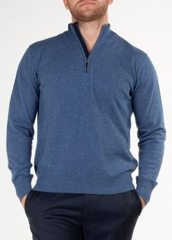 Кашемировый джемпер Doriani Cashmere синего цвета, фото