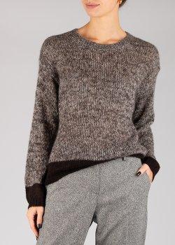 Коричневый свитер Luisa Cerano из мохера, фото