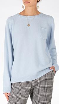 Голубой кашемировый джемпер Weill с карманом, фото