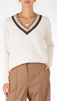 Белый пуловер Weill из шерсти и кашемира, фото