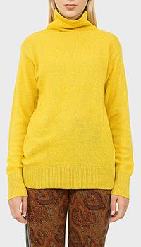 Желтый свитер Etro с высокой горловиной, фото