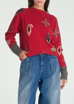 Красный джемпер Etro из смесовой шерсти, фото