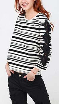 Джемпер Seventy в черно-белую полоску, фото