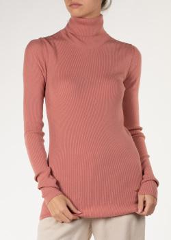 Гольф в рубчик Nina Ricci из шерсти розового цвета, фото