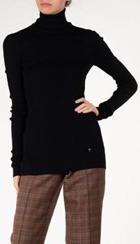 Черный гольф в рубчик Nina Ricci из шерсти, фото