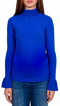 Женский синий свитер Sfizio с высокой горловиной, фото