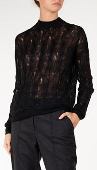 Черный свитер Nina Ricci из мохера и шерсти, фото