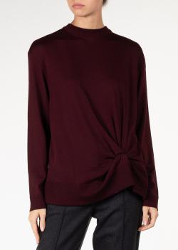 Шерстяной свитер Nina Ricci бордового цвета, фото