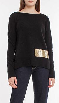 Джемпер черного цвета Pinko из шерсти и кашемира, фото