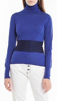 Шерстяной гольф Pinko синего цвета, фото