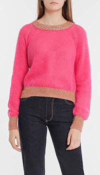 Розовый джемпер Pinko с мелкой вязкой, фото