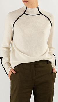 Белый свитер Pinko с разрезами, фото