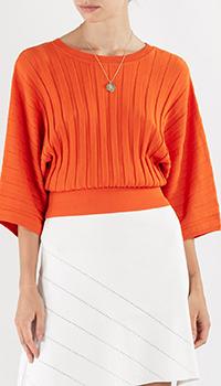 Оранжевый джемпер Pinko с открытой спиной, фото