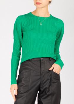 Зеленый джемпер Pinko в рубчик, фото