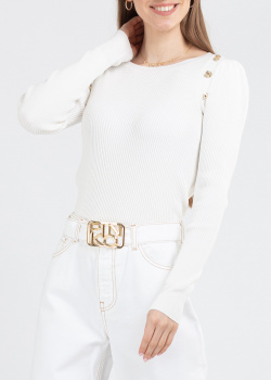 Белый джемпер Pinko в рубчик, фото