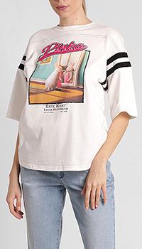 Джемпер Pinko с принтом белого цвета, фото