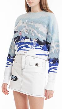 Шерстяной свитер Pinko с рисунком, фото