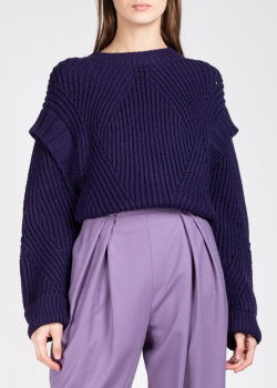 Свитер-оверсайз Alberta Ferretti фиолетового цвета, фото