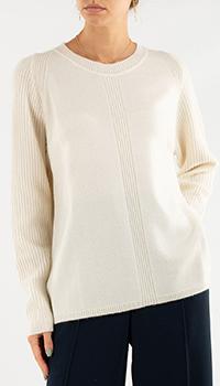 Джемпер Repeat Cashmere белого цвета с кашемиром, фото