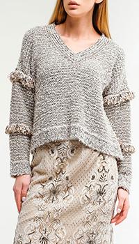 Пуловер Twin-Set с бахромой, фото
