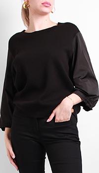 Джемпер Laurel в черном цвете с пышными рукавами, фото