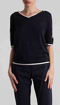 Черный пуловер Laurel с пальмами, фото