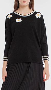 Черный джемпер Laurel с белыми цветами, фото