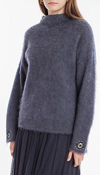 Синий свитер Laurel с воротником-стойкой, фото