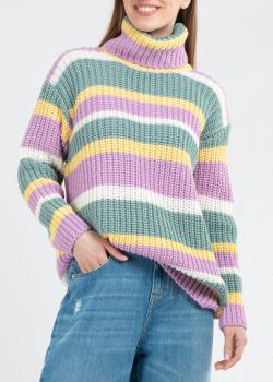 Трикотажный свитер-оверсайз Kontatto в полоску, фото