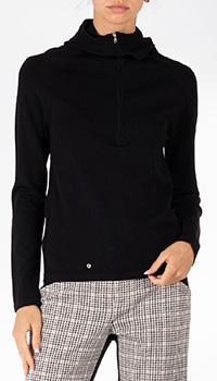 Черный свитер Patrizia Pepe с воротником под горло, фото