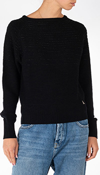 Вязаный свитер Patrizia Pepe черного цвета, фото