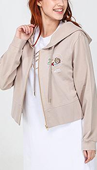 Кофта Love Moschino бежевого цвета на молнии, фото