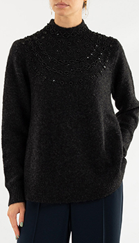 Свитер Repeat Cashmere черного цвета, фото