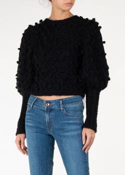 Укороченный свитер Zimmermann черного цвета, фото