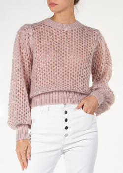 Розовый свитер Zimmermann с пышными рукавами, фото