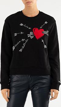 Джемпер Red Valentino с изображением сердца, фото